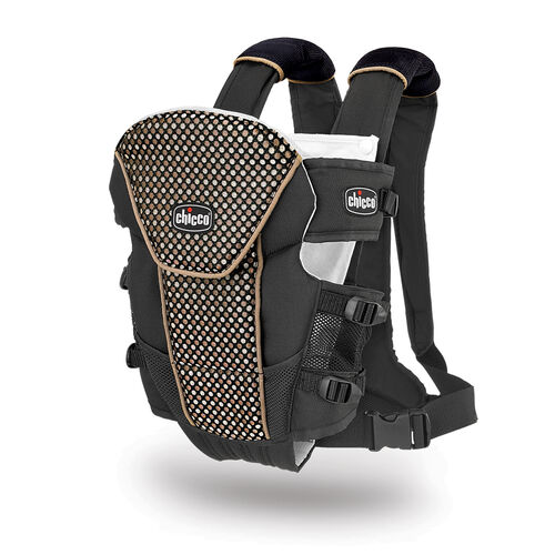 Chicco UltraSoft Limited Edition Infant Carrier in black with copper and silver dot pattern - Minerale