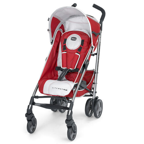 Chicco Liteway Plus Stroller in Red and Silver - Snapdragon