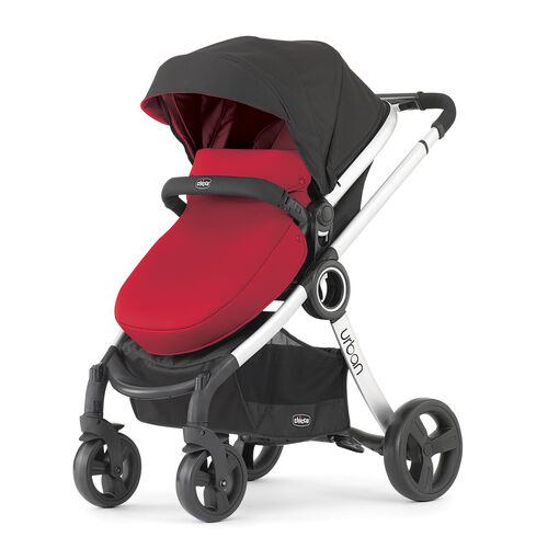 Chicco Urban Stroller with red color pack & red boot