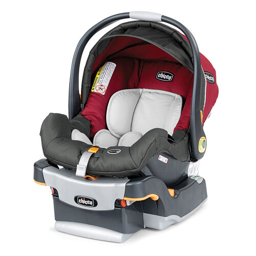Chicco KeyFit 30 Infant Car Seat and Base in deep ruby red color, Granita fashion