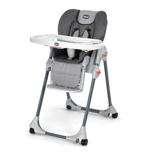 Chicco Polly Highchair in multitone, textured gray style - Graphica