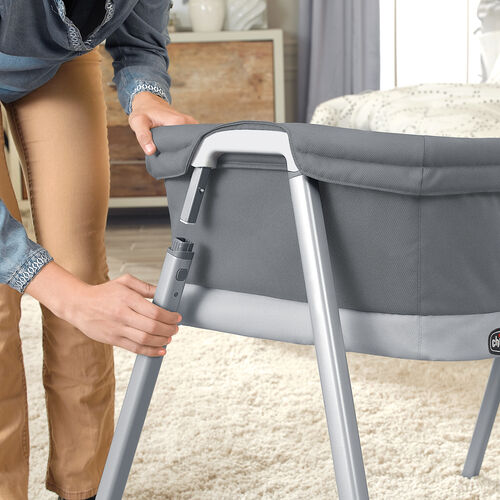 The Chicco Lullago portable bassinet can set up and be disassembled in under one minute