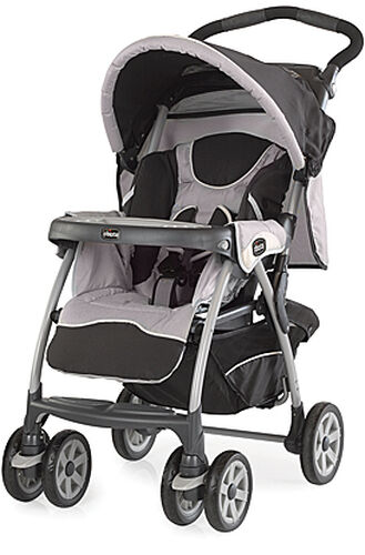 Chicco Cortina Stroller in black and light gray with white piping - Romantic - cortina keyfit 30 travel system romantic