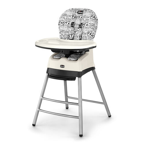 The Stack multi-stage highchair is a highchair, booster, and stool all in 1 great seat