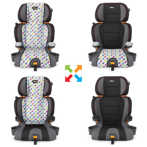 Swap colors and styles with zip-off seat pads so you never get bored of your KidFit Booster Car Seat's Style