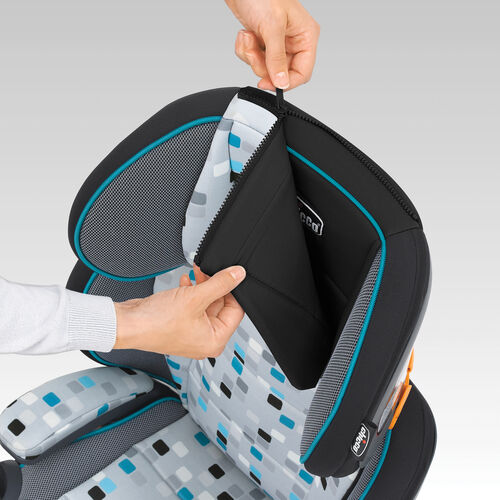 Zip-off headrest pad is machine-washable for easy cleaning