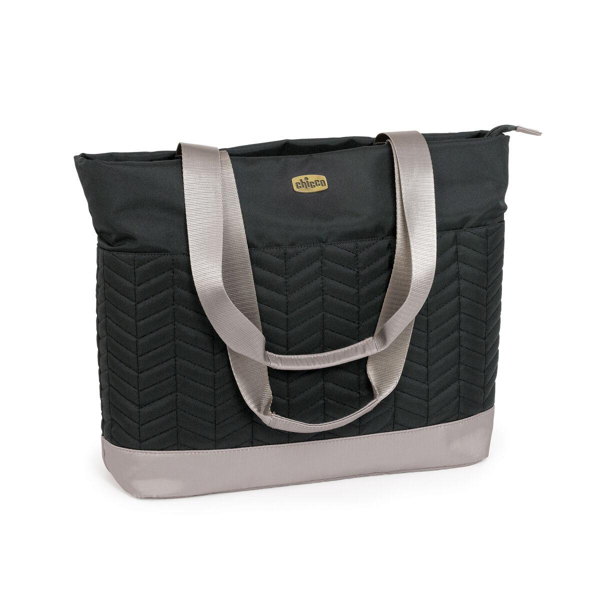 chicco chevron tote bag black. Black Bedroom Furniture Sets. Home Design Ideas