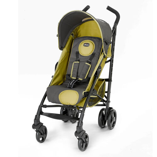 Chicco Liteway Stroller in dark gray with earthy green accents - Greenland