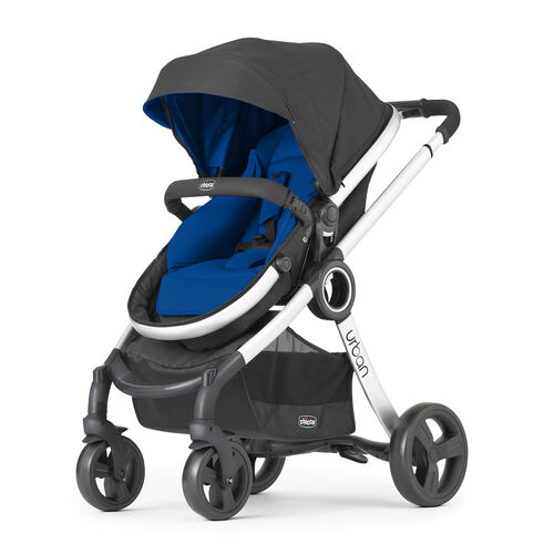 Chicco Urban Stroller with blue seat and canopy lining