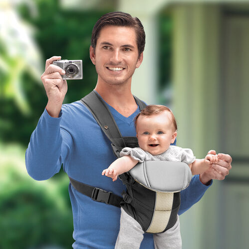 Face baby outward in the UltraSoft Baby Carrier to see the world!
