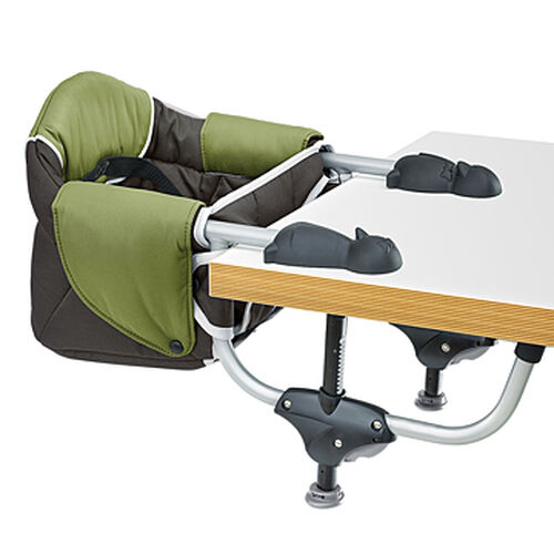 Chicco Hook-On Travel Seat in earthy green and black - Elm