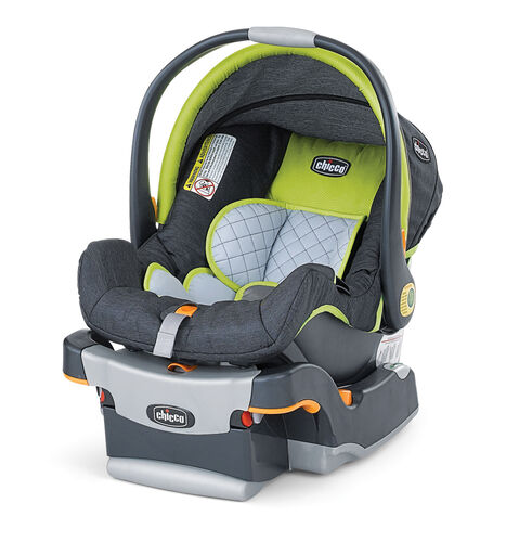 Chicco KeyFit Infant Car Seat - replacement Seat Cover, Canopy, and Shoulder Pads - Zest