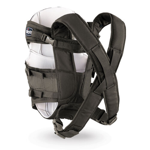 Adjustable padded shoulder straps provide a comfortable fit for parents