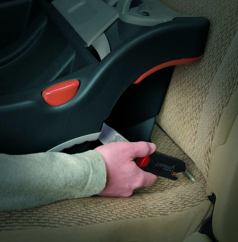 Remove the LATCH connector straps from the KeyFit 30 car seat base and snap them on to the LATCH anchor in your vehicle