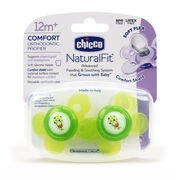 NaturalFit Comfort 12M+ Pacifier 12M -  Green (2 Pack) in