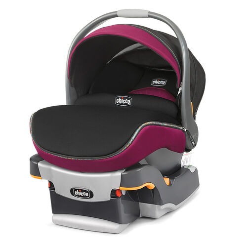 Chicco Keyfit 30 Zip Infant Car Seat and base in bright pink Fuchsia