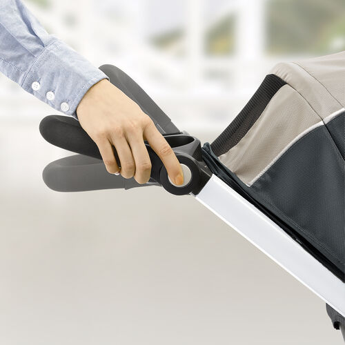 The Bravo Stroller provides comfort for parents with height-adjustable handle
