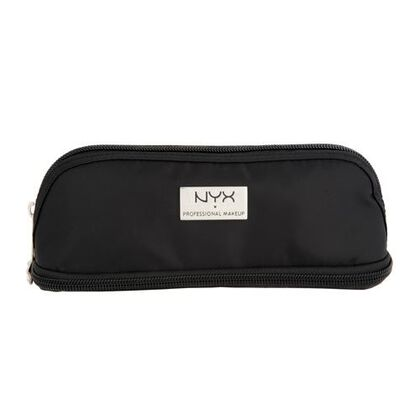 Black Small Double Zipper Makeup Bag