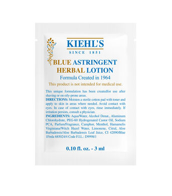 Blue Astringent Herbal Lotion Sample