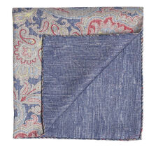 Paisley Slub Pocket Square
