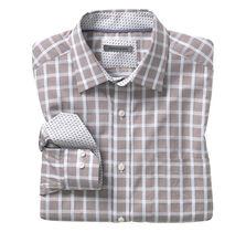 Micro-Check Windowpane Shirt