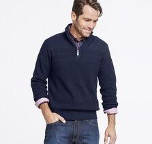 Quarter-Zip Chest Stripe Sweater