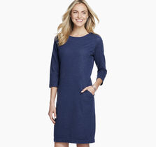 Seamed French Terry Dress