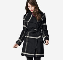 Eyelash Plaid Coat