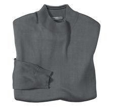Long Sleeve Silk Knit Mock Neck Shirt