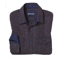 Slim Fit Slub Gingham Shirt