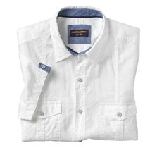 Tonal Plaid Double-Pocket Shirt