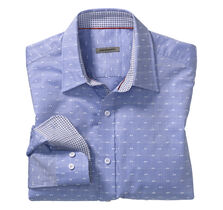 Slim Fit Tonal Windowpane Clip Shirt
