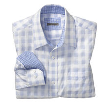 Tailored Fit Quad Stripe Windowpane Shirt