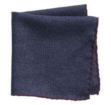 Contrast Edge Pocket Square