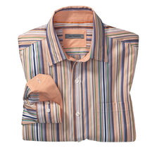 Tailored Fit Textured Stripe Shirt