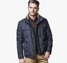 Waxed-Cotton Four-Pocket Jacket