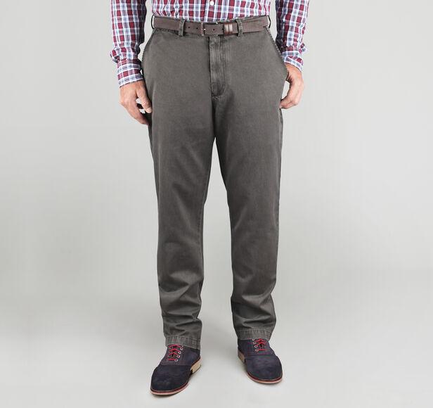 Regular Fit Garment-Washed Chinos