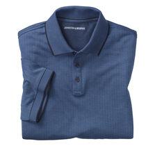 Short-Sleeve Herringbone Polo