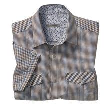 Slim Fit Micro Gingham Seersucker Camp Shirt