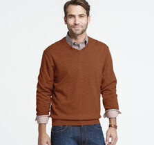 Solid V-Neck Sweater