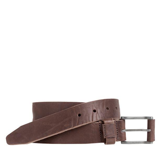 Raw-Edge Casual Belt