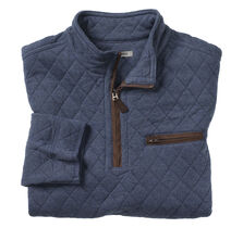 Quarter-Zip Quilted Pullover