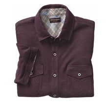 Linen Knit Button-Front Shirt
