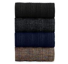 Wool Ribbed Slack-Length Socks