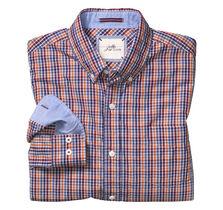 Slim Fit Washed Micro Check Shirt