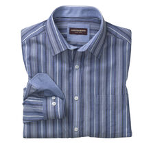 Textured Variegated Stripe Shirt