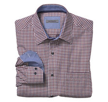 Tailored Fit Mini Gingham Twill Shirt