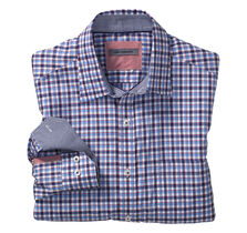 Tailored Fit Framed Double Gingham Shirt
