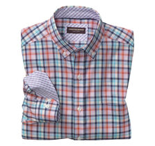 Colorful Plaid Oxford Button-Down Collar Shirt