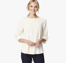 Roll-Sleeve Blouse
